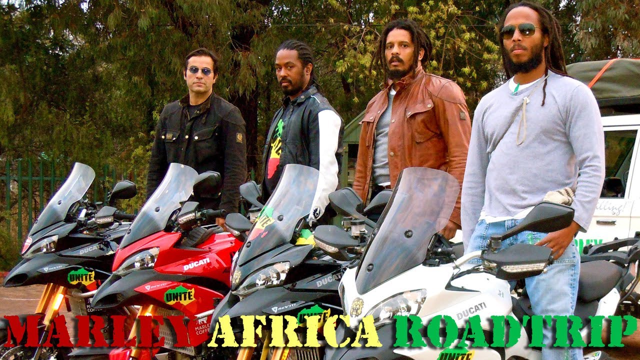 Ziggy Marley retraces his fathers footsteps in Africa, on a Ducati!