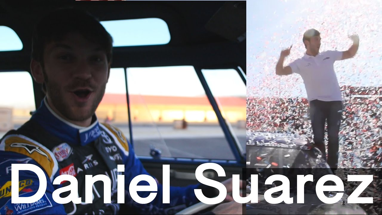 NASCAR's Daniel Suarez drives the eSamba then wins Fontana